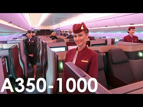 The World's FIRST A350-1000 Delivery Flight to Qatar Airways