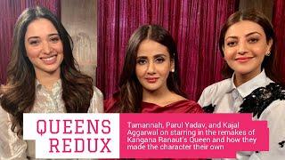 Tamannaah Bhatia, Parul Yadav & Kajal Aggarwal interview with Rajeev Masand on Queen remake