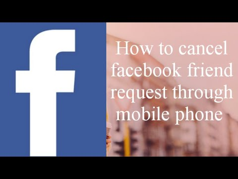 How cancel friend request in Facebook in mobile phone  by Ramesh Pittla