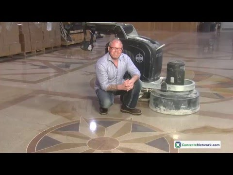 Polishing Concrete with Imperfections