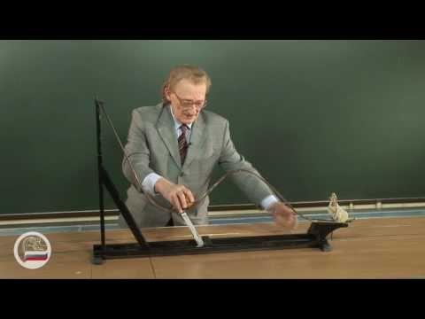 Шарик на дорожке сложного профиля. - демонстрация в инженерно физическим институте