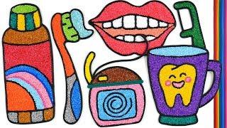 Toothpaste Brush Set, Belajar Menggambar Dan Mewarnai Untuk Anak | Clay Coloring And Drawing