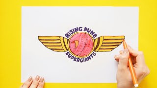 How to draw Rising Pune SuperGiants (IPL Team)