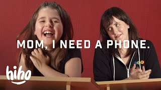 Parent vs. Kid: 8 Year Old Debates Her Mom For a Cell Phone | Spirited Debates | HiHo Kids