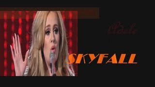 Adele - Skyfall ( live 2013 )( lyrics )