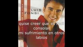 Luis Fonsi Duele Perderte Lyrics