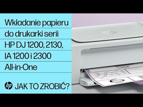Wkładanie papieru do drukarki serii HP DeskJet 1200, 2130, Ink Advantage 1200 i 2300 All-in-One