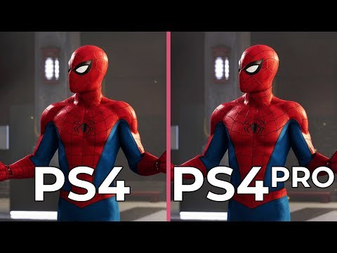 [4K] Marvel's Spider Man – PS4 vs. PS4 Pro Graphics Comparison & PS4 Frame Rate Test