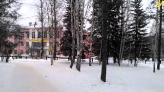 Снег в Академгородке