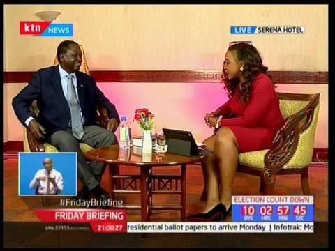 Raila Odinga talks about his gym visits; Friday briefing