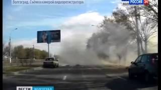 Видео с регистратора в момент взрыва  Волгоград  21 10 2013  Rossiya 24