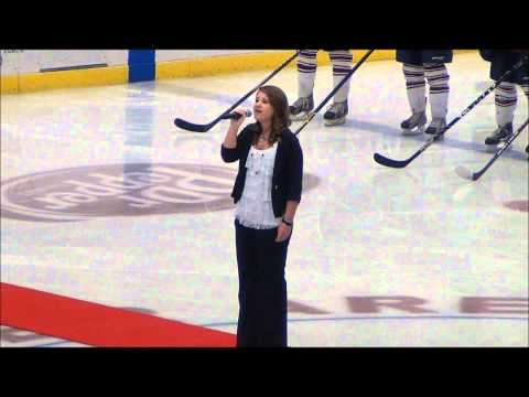 Maddie singing Star Spangled Banner at Robertson Cup