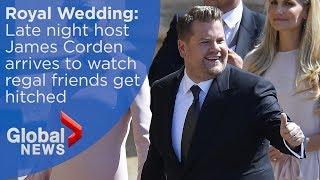 Royal Wedding: Late night host James Corden arrives at Windsor Castle - Video Youtube