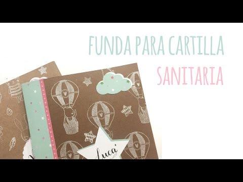 Funda para cartilla sanitaria infantil - TUTORIAL Scrapbook