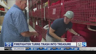 Father And Son Firefighters Turn Trash Into Treasure