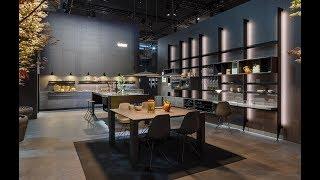 Eurocucina 2018 - Williamsburg, The 50's and Intarsio design by Garcia Cumini