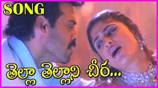 Thella Thellani Cheera Song - Devi Putrudu Video Songs  - Venkatesh ,Anjala Zaveri