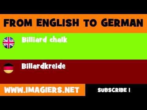 DEUTSCH   ENGLISCH  = Billardkreide