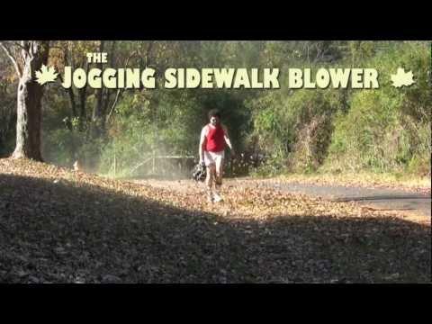 The Jogging Sidewalk Blower opening credits