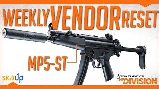 The Division  Weekly Vendor Reset 24th Dec Feat MP5ST Alpha Bridge Chest 3 X D3FNC Pieces