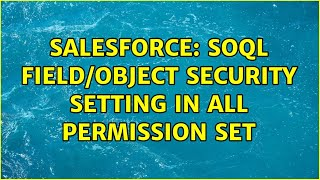 Salesforce: SOQL field/object security setting in all Permission Set