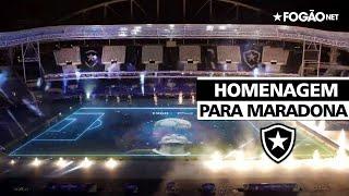 Maradona é homenageado pela Copa América no estádio do Botafogo