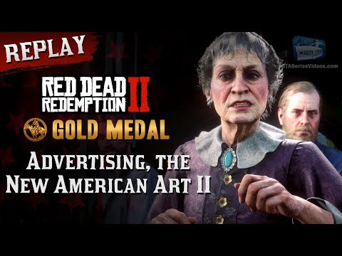 RDR2 PC - Mission #30 - Advertising, the New American Art II [Replay & Gold Medal]