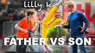 FATHER Vs SON Dance Moms Challenge Ft. Lilly K