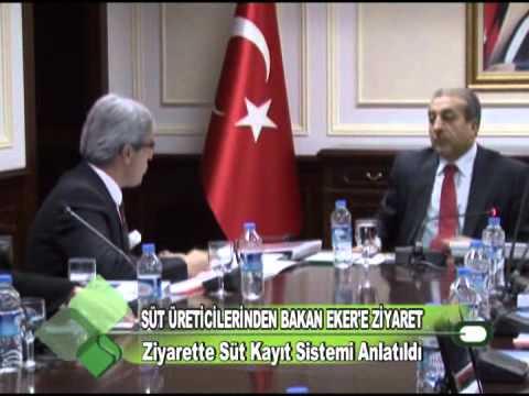 SÜT ÜRETİCİLERİNDEN BAKAN EKER'E ZİYARET 16.12.2011