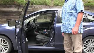 Correct way to get in & out of your car