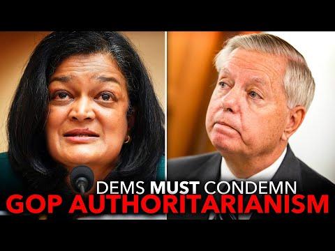 Pramila Jayapal Calls on Lindsey Graham to Resign After He Got Caught Meddling in Election