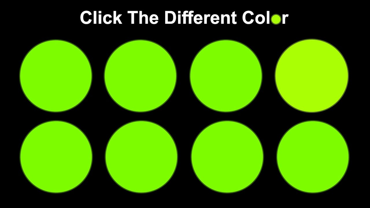 Can you spot the different color?