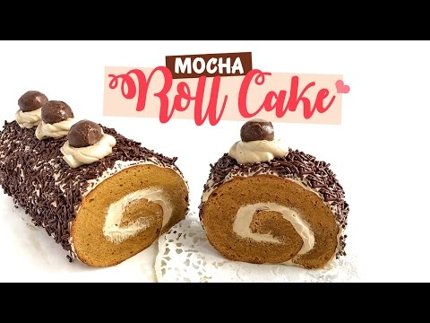 Video Mocha Roll Cake | Bolu Gulung Mocha lembut tanpa SP & Baking Powder
