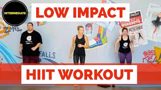 Intermediate Low impact cardio HIIT workout. Exercise from home!