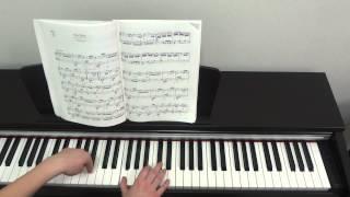 """Л. Бетховен """"К Элизе"""". Урок для фортепиано Часть 1."""