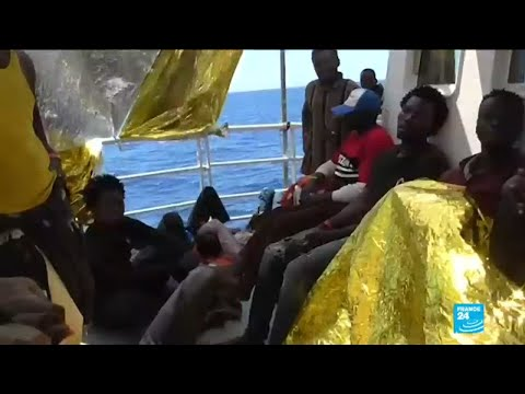 Migrant rescue ship stranded at sea after Italy turned it down