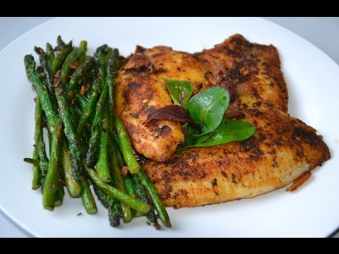 Tilapia Fish Fillets with Asparagus | Healthy Recipe