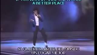 Michael Jackson   Man In The Mirror  En Vivo    Subtitulado En Español E Ingles