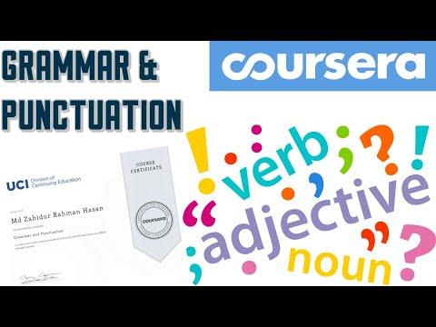 Coursera Academic English Certification Course ll Grammar ...