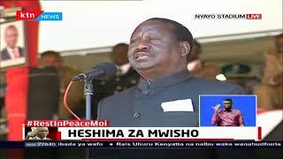 Raila Odinga pays tribute to Former President Moi
