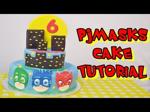 Pjmasks Cake Tutorial Fondant Torta Super Pigiamini In Pasta Di
