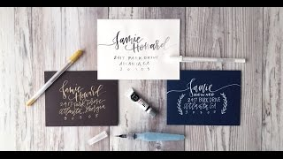 Create a Sophisticated Hand Addressed Envelope