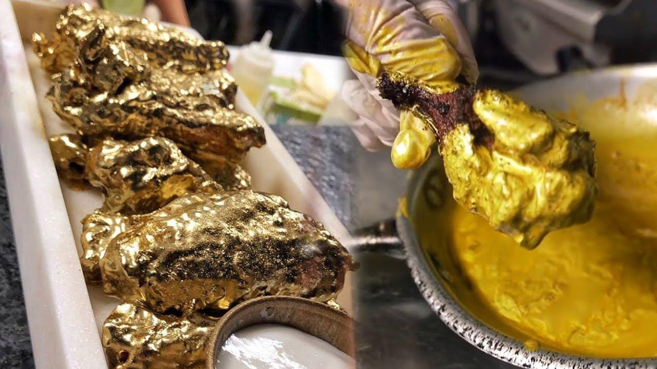 Inovasi Dunia Kuliner Tak Ada Habisnya, Kini Ada Ayam Goreng Berlapis 'Emas' yang Bisa Dimakan