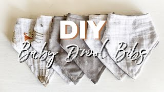 DIY BABY DROOL BANDANAS/BIBS | HOW TO SEW BABY DROOL BIBS