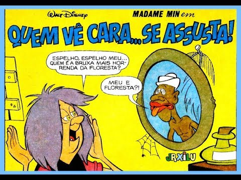 Madame Min - Quem vê cara... se assusta! - quadrinhos Disney