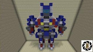 Minecraft - How To Build Transformers 4 Optimus Prime Robot Mode!
