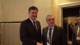 Rencontre entre les ministres des Affaires étrangères d'Arménie et de Slovaquie