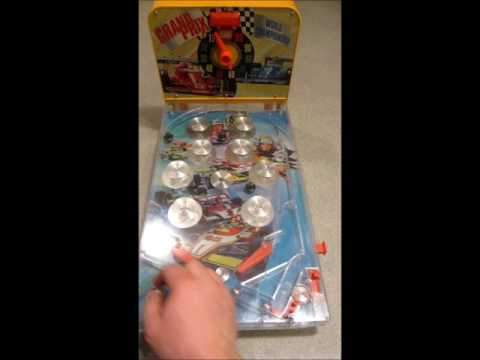 Grand Prix Pinball Game 1970´s, Working Well, Retro
