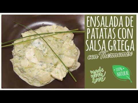 Ensalada de patatas a la griega con Thermomix