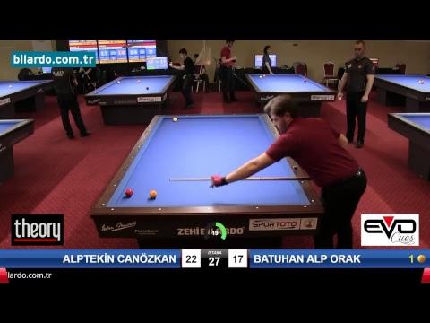 ALPTEKİN CANÖZKAN & BATUHAN ALP ORAK Bilardo Maçı - 2018 GENÇLER 1.ETAP-2. Tur
